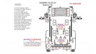 Hummer H2 2003, 2004, 2005, 2006, 2007, Exterior Kit, 43 Pcs.