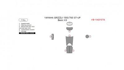 Yamaha Grizzly 500, 700 2007-UP, Basic Kit, 7 Pcs.