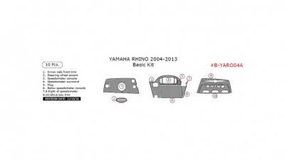 Yamaha Rhino 2004-2013, Basic Kit, 10 Pcs.