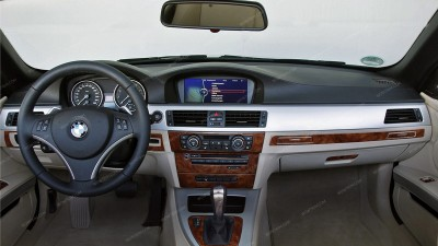 BMW 3 Series 2006, 2007, 2008, 2009, 2010, 2011, Interior Dash Kit, With Navigation System (Sedan/Wagon), 39 Pcs.