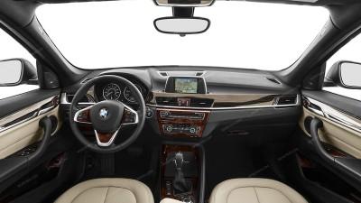 BMW X1 (F48) 2016, 2017, 2018, Main Interior Kit, 32 Pcs.
