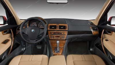 Dash Kits For Bmw X3 Wood Grain Camo Carbon Fiber Aluminum Dash Trim Kits