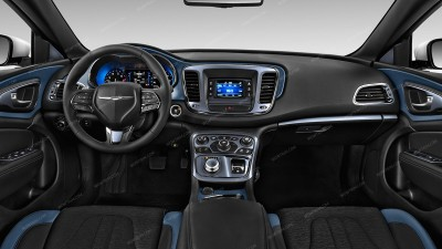 Chrysler 200 2015, 2016, 2017, Without Navigation System, Main Interior Kit, 38 Pcs.