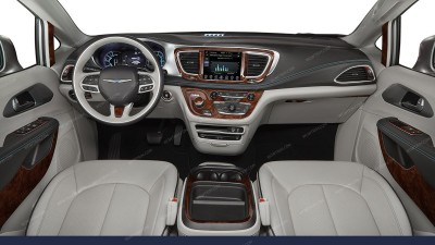 Chrysler Pacifica 2017-2018, For Models With 8.4-Inch Touch Screen, Full Interior Kit, 39 Pcs.