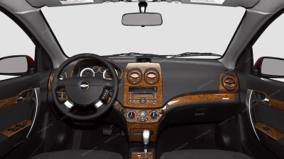 Chevrolet Aveo Sedan 2007, 2008, 2009, 2010, 2011/Aveo 5 2009, 2010, 2011/Pontiac G3 2009-2010, Full Interior Kit, 61 Pcs.