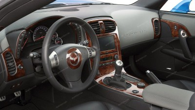 Chevrolet Corvette 2008, 2009, 2010, 2011, 2012, 2013, With Magnetic Selective Ride Control, Main Interior Kit, 31 Pcs.
