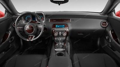 Chevrolet Camaro 2010-2011, With Floor Console Without Gauge Cluster, With Manual Transmission, Main Interior Kit, 40 Pcs.