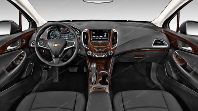 Chevrolet Cruze Sedan 2016, 2017, 2018/Chevrolet Cruze Hatchback 2017-2018, For Models With 7-Inch Touch Screen, Full Interior Kit, 58 Pcs.