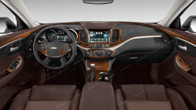 Chevrolet Impala 2014, 2015, 2016, 2017, 2018, With Navigation System, Without OEM Wood, Full Interior Kit, 49 Pcs.