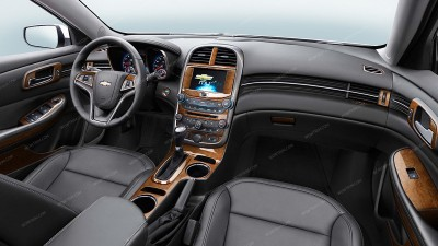 Chevrolet Malibu 2014-2015, Full Interior Kit, 55 Pcs.
