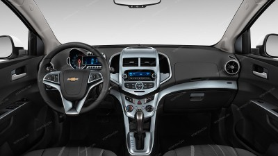 Chevrolet Sonic 2012, 2013, 2014, 2015, 2016, With Power Windows (Without MyLink 7 Inch Screen), Full Interior Kit, 64 Pcs.