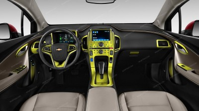 Chevrolet Volt 2011, 2012, 2013, 2014, 2015, Without Navigation System Or For Models With MyLink, Main Interior Kit, 30 Pcs.