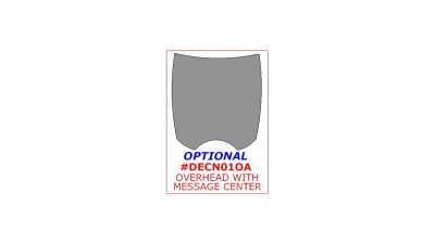 Chrysler Town & Country / Dodge Caravan 2001-2007, Optional Overhead Console With Message Center, 1 Pc.