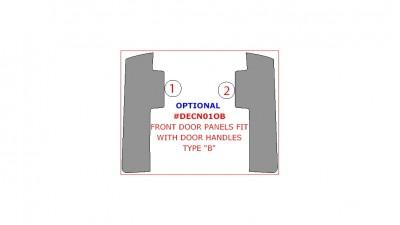 """Chrysler Town & Country / Dodge Caravan 2001-2007, Optional Door Panels, Fit With Door Handles Type """"B"""", 2 Pcs."""