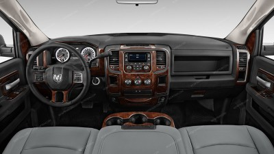 Dodge RAM 1500 2013-UP, Without 8.4-Inch Touch Screen Display, With Front Bench Seat, Full Kit, 65 Pcs.