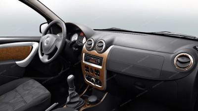 Dacia Logan/Sandero 2009, 2010, 2011, 2012, Renault Logan/Sandero 2009, 2010, 2011, 2012, Full Interior Kit, 17 Pcs.