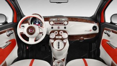Fiat 500 2012, 2013, 2014, 2015, Full Interior Kit (North America Only), 37 Pcs.
