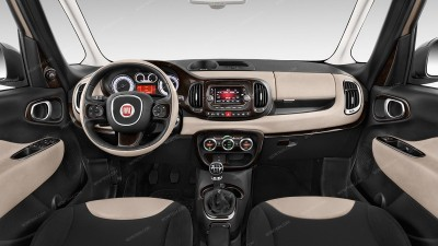Fiat 500L 2014, 2015, 2016, 2017, With 5 Inch Touch Screen, Full Interior Kit, 39 Pcs.