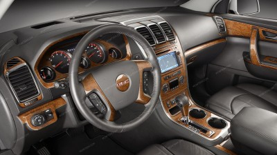 GMC Acadia 2007, 2008, 2009, 2010, 2011, 2012, Without OEM, With Digital Climate Control, Full Interior Kit, 86 Pcs.