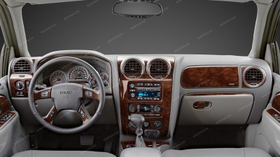 GMC Envoy 2006, 2007, 2008, 2009 / Isuzu Ascender 2006, 2007, 2008, For Models Without OEM Wood, Main Interior Kit, 42 Pcs.