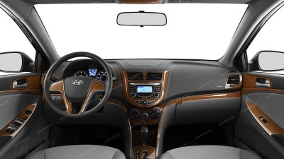 Hyundai Accent 2012-2017, For Models With Power Windows, Deluxe Kit, 54 Pcs.