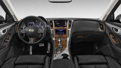 Infiniti Q50 2014, 2015, 2016, 2017, Basic Interior Kit, 24 Pcs.