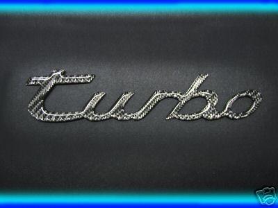 Porsche 911 (1989-1997) / 996 (1998-2004) / 993 Carrera Carbon Fiber TURBO Emblem