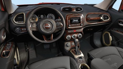 Jeep Renegade 2015, 2016, 2017, Full Interior Kit, 44 Pcs.