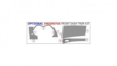 Citroen C-Crosser / Mitsubishi Outlander / Peugeot 4007 2007-2013, Optional Front Dash Trim Kit, 9 Pcs.