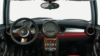 Mini Cooper 2007, 2008, 2009, 2010, Main Interior Kit, 54 Pcs.