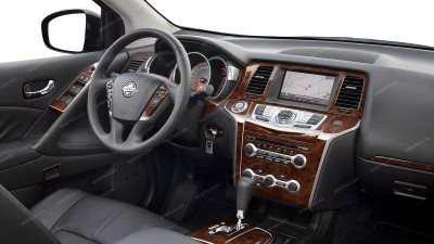 Nissan Murano 2009, 2010, 2011, 2012, 2013, 2014, Without OEM Wood, Main Interior Kit, 61 Pcs.
