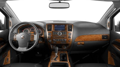 Dash Trim Kits Accessories For Nissan Armada Wood Grain Camo Carbon Fiber Aluminum Kits