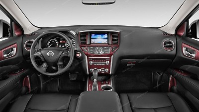Nissan Pathfinder 2013, 2014, 2015, 2016, Over OEM Trim, Full Interior Kit, 55 Pcs.