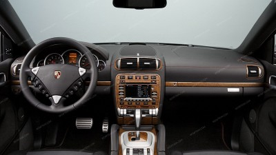 Porsche Cayenne 2003, 2004, 2005, 2006, 2007, 2008, 2009, 2010, Interior Dash Kit, With Navigation System, 43 Pcs.