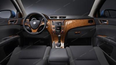 Suzuki Kizashi 2010, 2011, 2012, 2013, Without Navigation System, Deluxe Interior Kit, 49 Pcs.