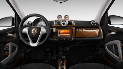 Smart ForTwo 2011-2015, With Navigation System, Full Kit, 38 Pcs.