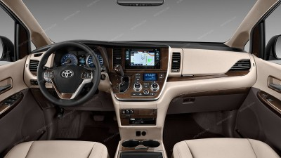 Toyota Sienna 2015, 2016, 2017, For Models Without OEM Wood, Full Interior Kit, 41 Pcs.