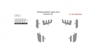 Yamaha Rhino 2004-2013, Exterior Kit, 8 Pcs.